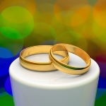 Caribbean gay wedding rings
