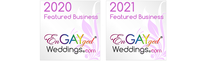 LGBTQ Friendly Wedding Business Featured on EnGAYged Weddings Directory *-*