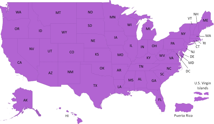 us map color coded by state gay marriage laws