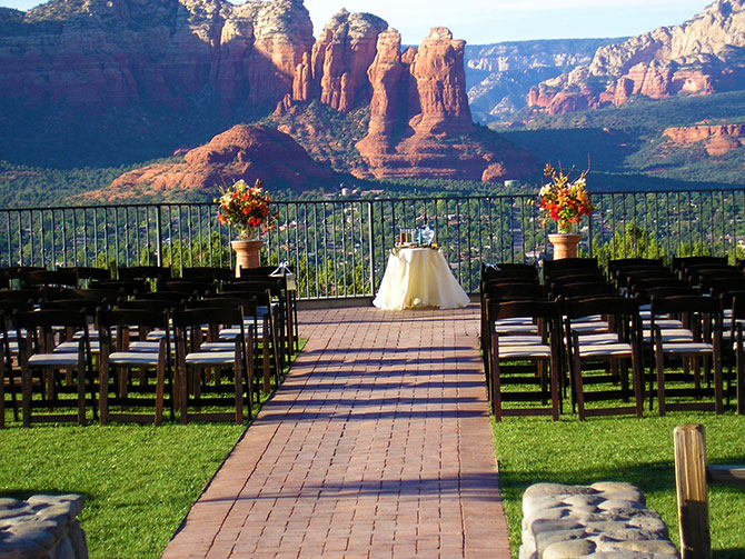Sky Ranch - Ceremony site with breath taking backdrops