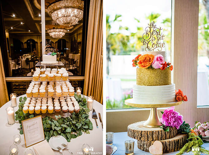 Bahia Resort Hotel - Elegant Table Centerpiece and uplighting