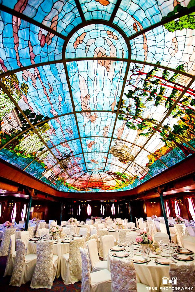 Bahia Resort Hotel Stained Glass Ceiling Reception Venue