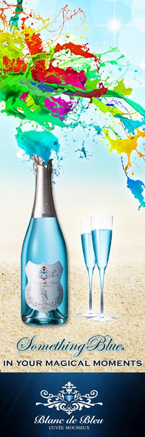 Sparkling Blue Wine - Blanc de Bleu - Blue Champagne