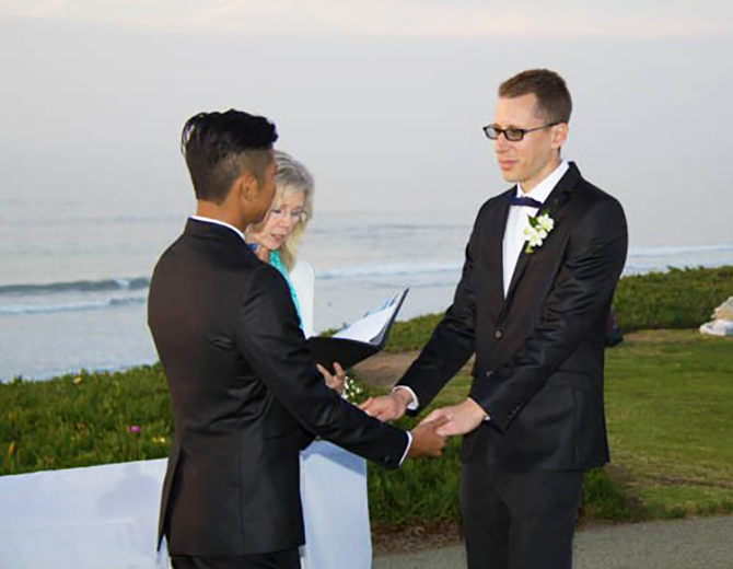Ceremonies DeVie LGBT Wedding Officiant in San Diego California