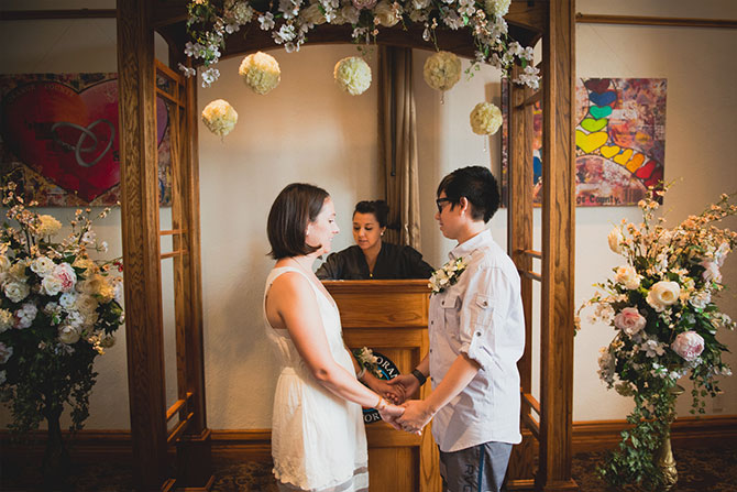 Derek Chad Photography - lesbian marriage ceremony at the courthouse