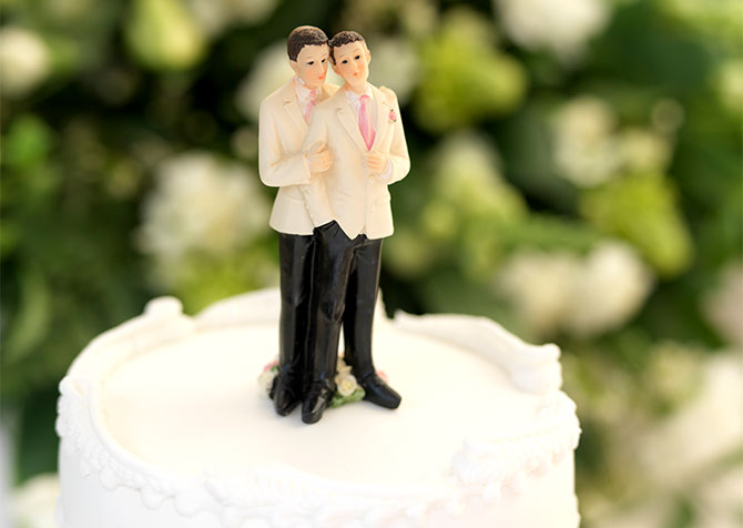 Hilton Sonoma Wine Country - Gay Wedding Cake Topper