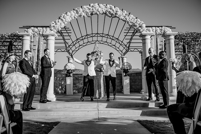 Black and white photo LGBT Wedding Riverside, California LGBT Wedding Photographer - J. Perryman Photography