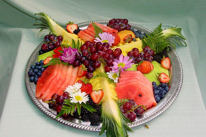 Tropical Fruit Platter For A Beach Wedding: Manitou Springs, CO Same-Sex Friendly Bed And Breakfast