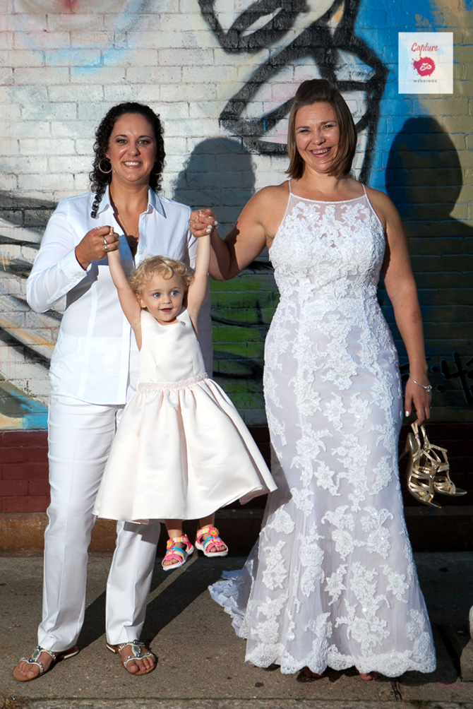 Capture Photography - Photo of brides and flower girl