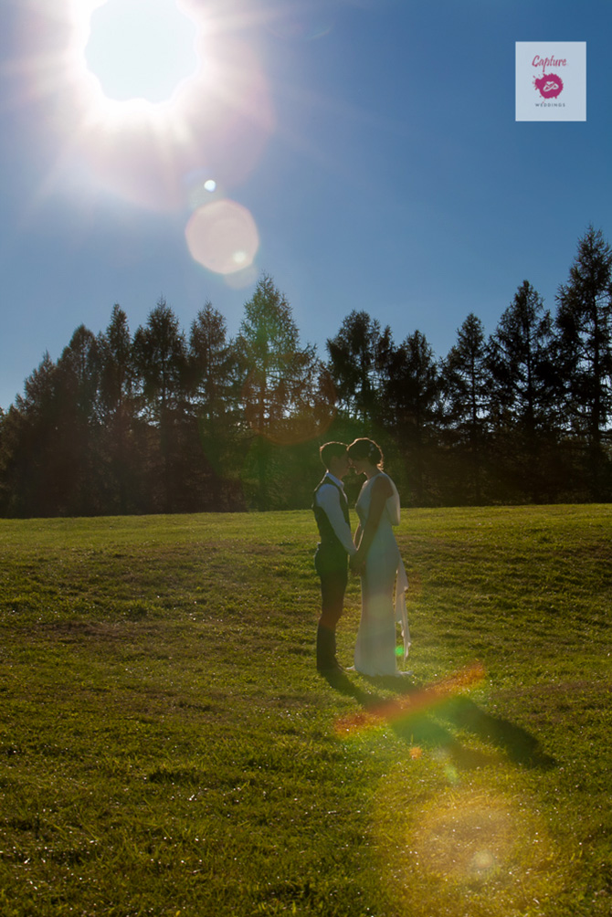 Capture Photography - Lesbian wedding brides countryside photograph