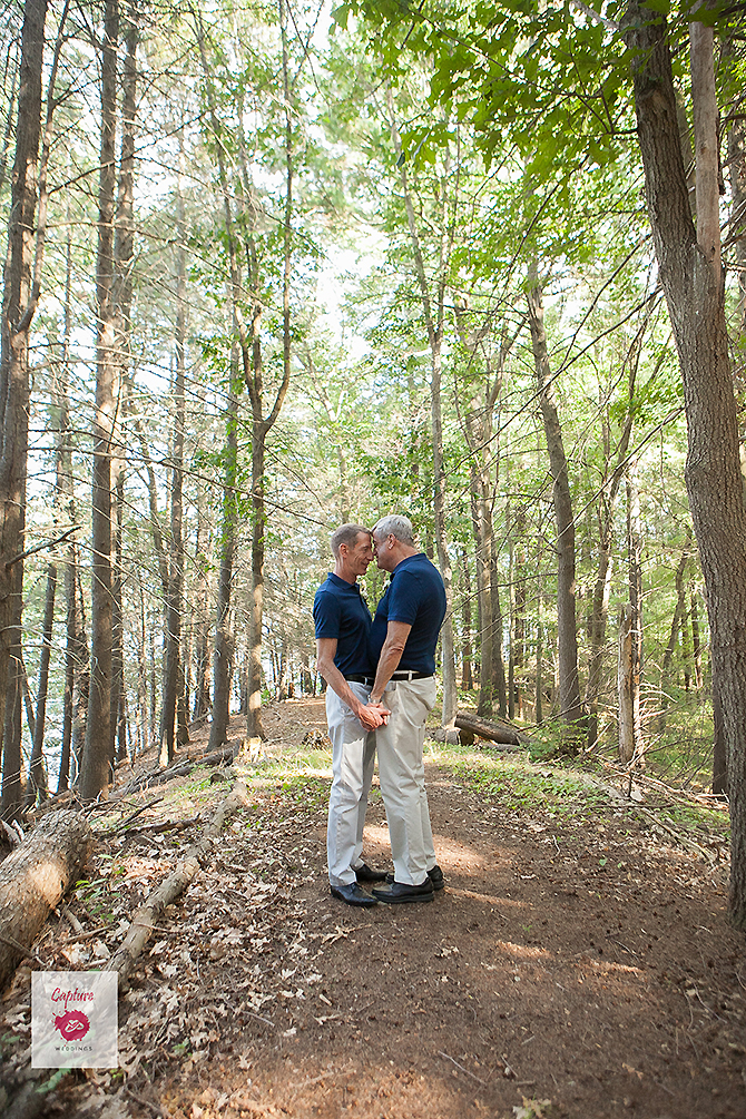 Capture Photography - grooms together in the woods