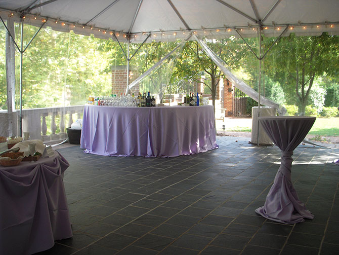 Dumbarton House - Tented reception and full bar