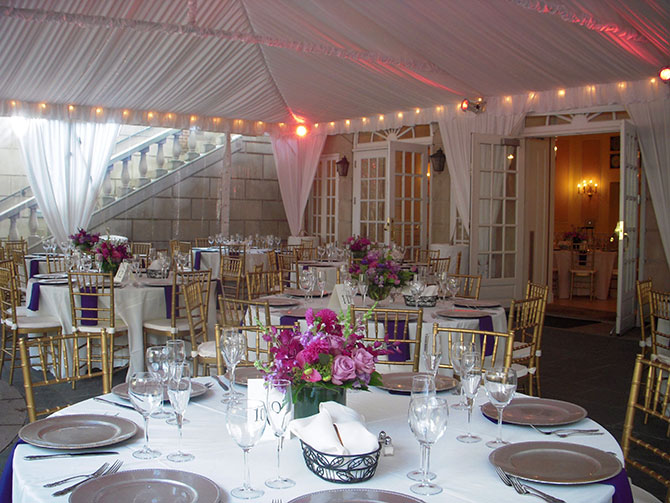 Dumbarton House - Tented reception and uplighting