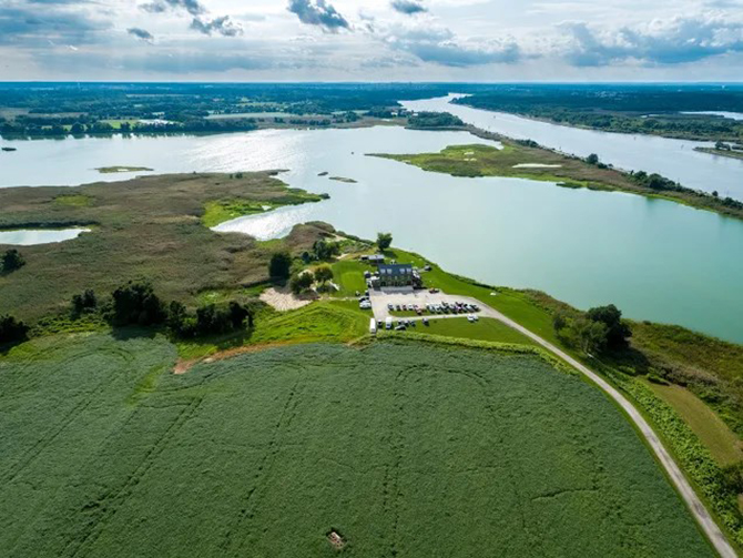 Aerial View Delaware - Thousand Acre Farm