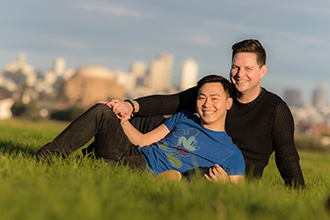 A. Harris Photography - gay couple park