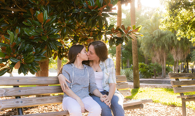 A. Harris Photography - Lesbian Couple Kiss
