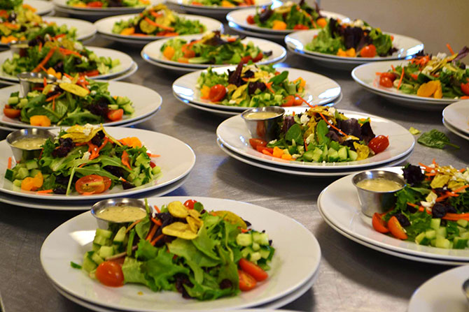 CateringCC - Salads prepared by catering service