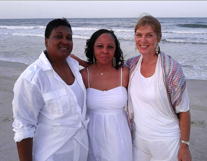 Florida Wedding Celebrant - With Lesbian Brides on the beach
