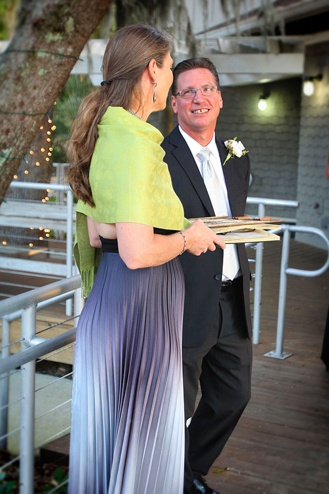 Florida Wedding Celebrant - Janet Herrick with Groom