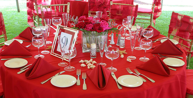 Florida Weddings Online - Wedding Reception Dining Table