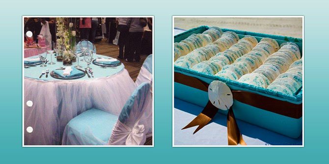 Florida Weddings Online - Sand Dollar Table Seating Places