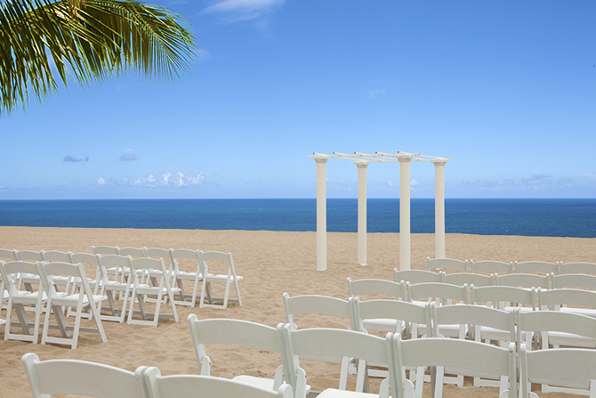 Fort Lauderdale Marriott Pompano Beach Beach Florida Beach Wedding Setup