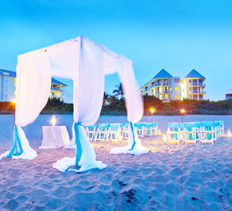 Hutchinson Island Marriott Beach Resort & Marina wedding ceremony on the beach