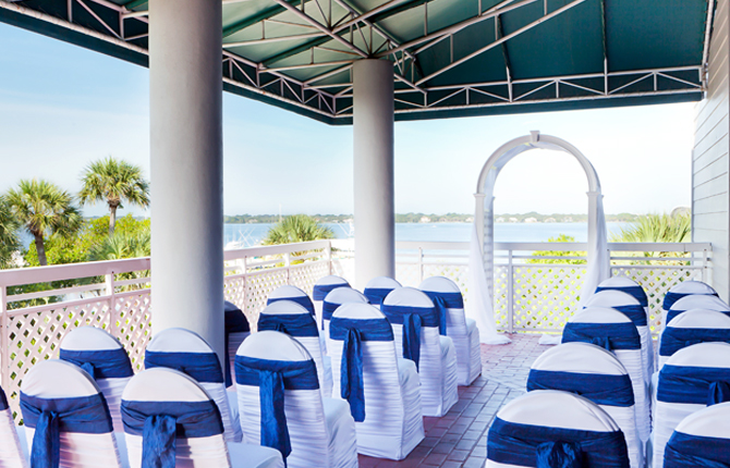 Hutchinson Island Marriott Beach Resort & Marina wedding ceremony outside