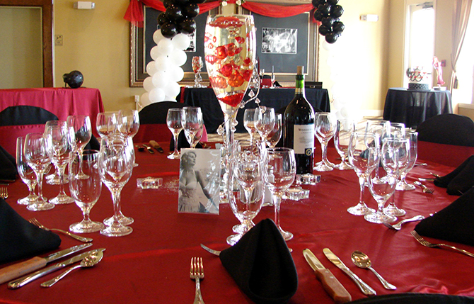I DO Weddings By Sheri - Reception In White Black & Red