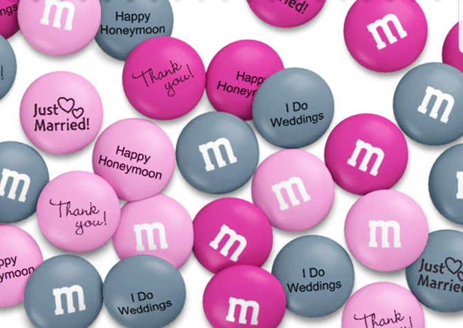 Custom M and Ms Wedding Favors - I Do Weddings Plus Events