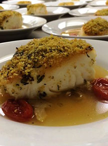 John Michael Weddings & Special Events - nut encrusted grouper filet