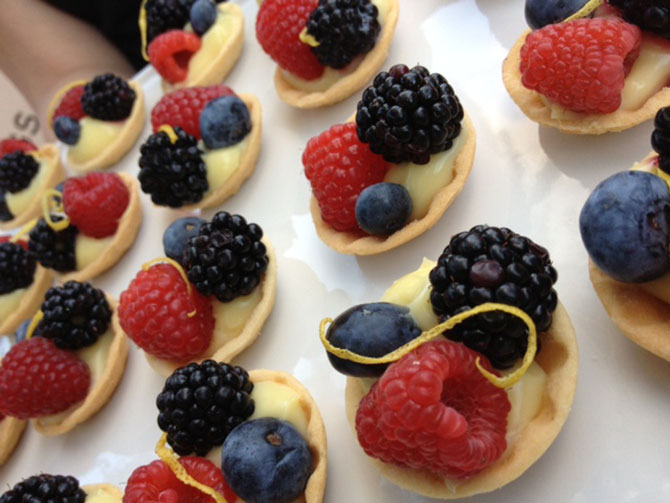 John Michael Weddings & Special Events - berry tarts