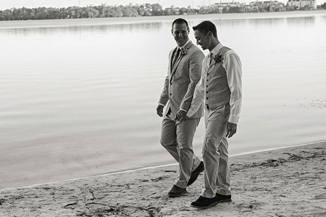 John Michael Weddings & Special Events - LGBT Couple on a Florida Beach