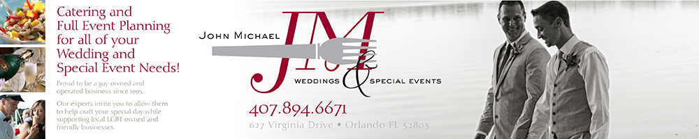Florida LGBT Wedding Planner and Caterer - John Michael Weddings and Special Events