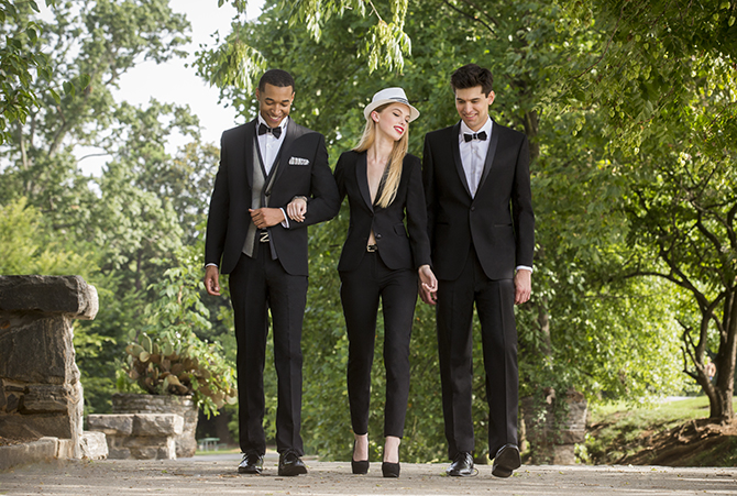 Little Black Tux Lesbian Wedding Tuxedos by David Tutera