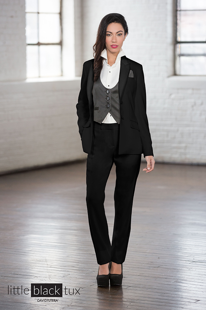 Lesbian Wedding Tuxedos Little Black Tux, LLC by David Tutera