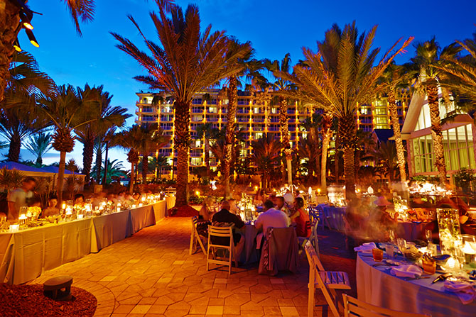 Marco Island Mariott Marco Island Florida Terrace Wedding At Sunset