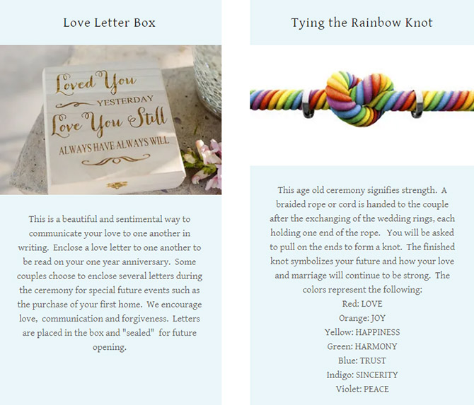 Love Letter Box and Tying the Rainbow knot - Pride Wedding Ceremonies
