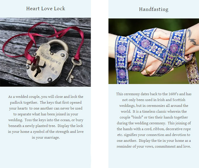Handfasting and Heart Love Lock - Ceremony - Pride Wedding Ceremonies