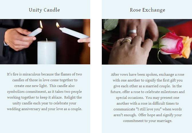 Unity Candle - Rose Exchange - Pride Wedding Ceremonies