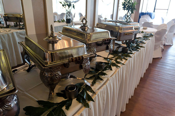Royal Fiesta Caterers & Event Center - Wedding reception buffet table
