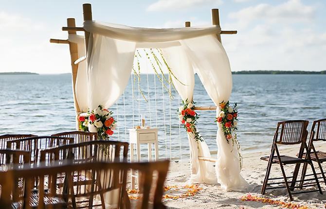 Sanibel Harbour Marriott Resort Spa Wedding Ceremony Beachside Daylight