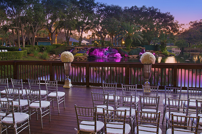 Sawgr Marriott Ponte Vedra Beach Florida Outdoor Wedding At Night