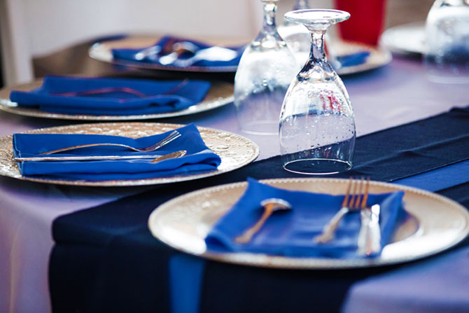 Sunset Beach House - Blue Table Setting