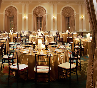 The Vinoy Renaissance St. Petersburg Resort & Golf Club wedding receptin interior gold