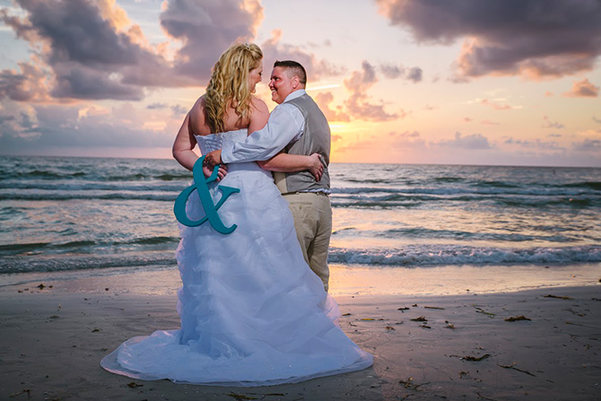 Tide The Knot Beach Weddings Brides At Sunset On