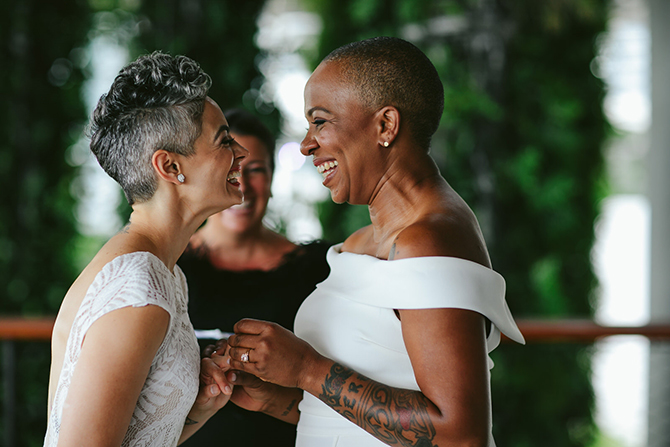 Lesbian Wedding Photo - Tiny House Photo LGBT Wedding Photographer