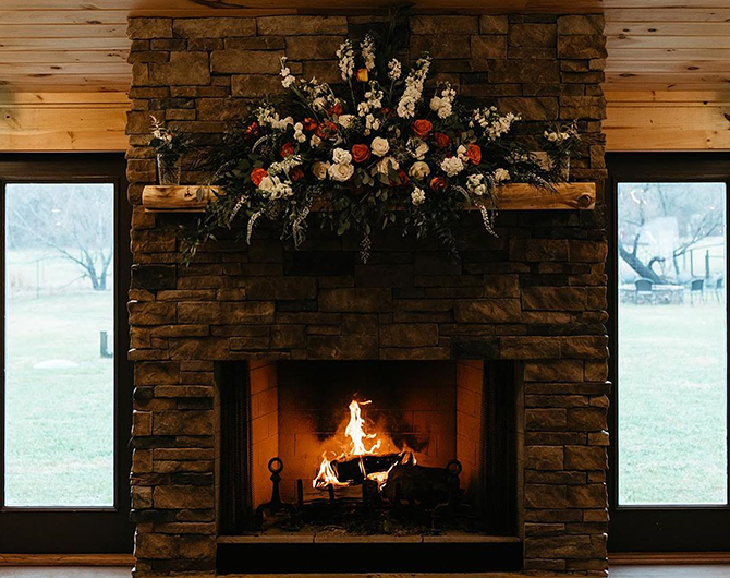 Fireplace - North Georgia Mountains - LGBT Wedding Venue - Willow Creek Farm