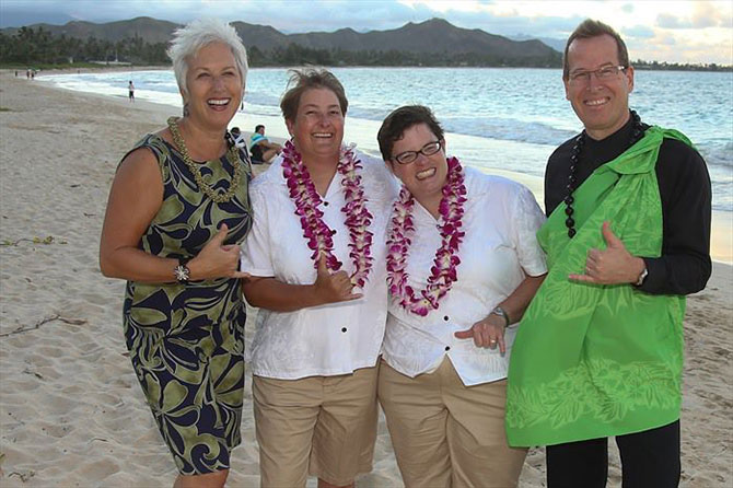I Do Hawaiian Weddings LGBT beach wedding ceremony