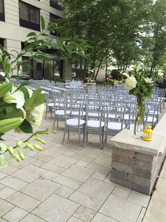 Chicago Marriott Naperville illinois lgbt reception sites ceremony chairs